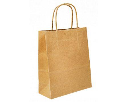 Papírová taška hnědá 320x410x140mm