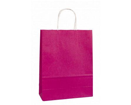 Papírová taška růžová 240x310x100mm