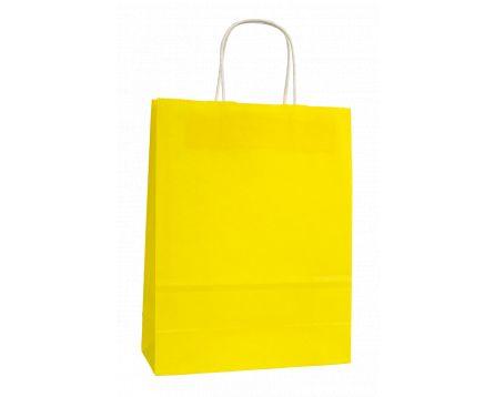 Papírová taška žlutá 240x310x100mm