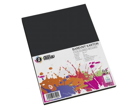 Barevný papír černý A4/180g/50 listů