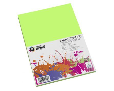 Barevný papír zelený A4/180g/50 listů