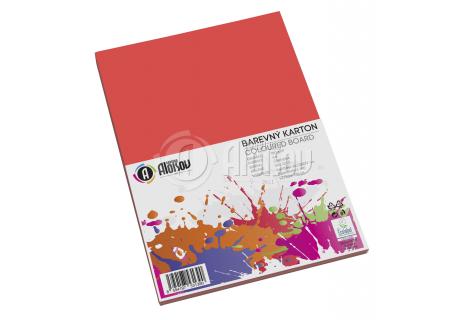 Barevný papír červený A4/180g/50 listů