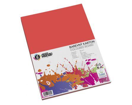 Barevný papír červený A3/180g/100 listů