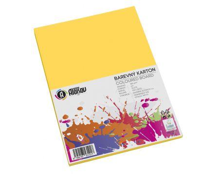 Barevný papír žlutý A4/180g/100 listů