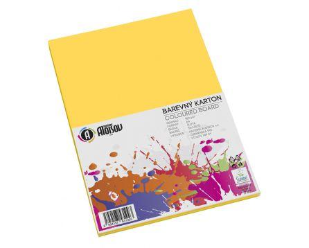 Barevný papír žlutý A4/180g/50 listů