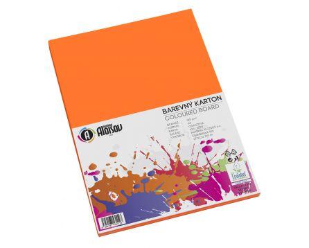 Barevný papír oranžový A3/180g/100 listů