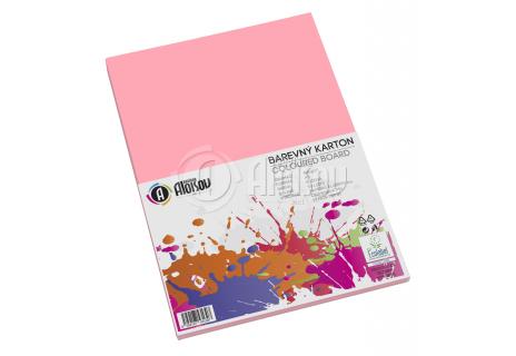 Barevný papír růžový A3/180g/50 listů