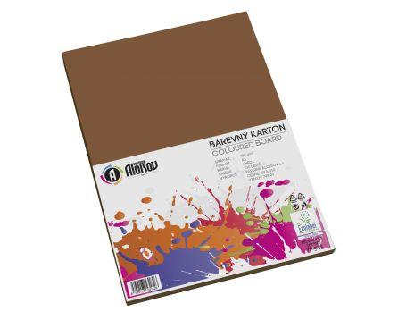 Barevný papír hnědý A3/180g/100 listů