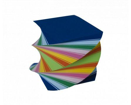 Barevný bloček točený 8,5x8,5x8,5cm