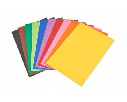Barevný papír duha A4/180g/100 listů