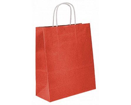Papírová taška červená 240x310x100mm